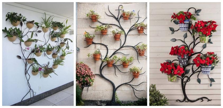 Незаурядные вертикальные подставки для цветов: стильные идеи для дома и дачи
