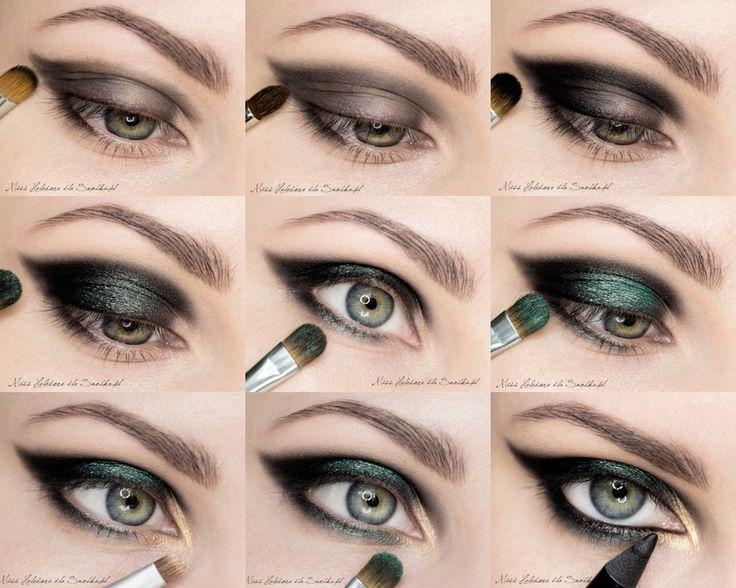 Макияж серых-зеленых глаз