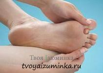 Массаж между пальцами ног