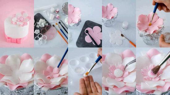 Цветы на торт своими руками