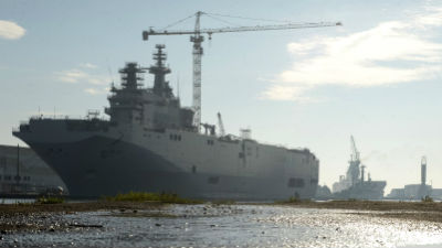 Минфин Франции: Выплата России по «Мистралям» составит менее миллиарда евро