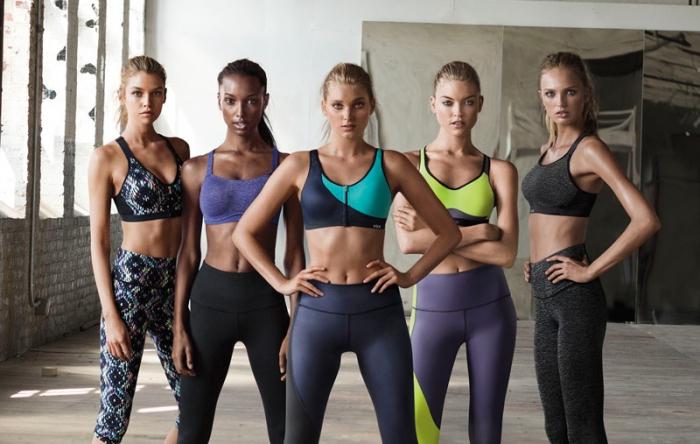 Красотки из Victoria's Secret занялись спортом