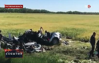 Пять человек погибли в крупной аварии в Ростовской области