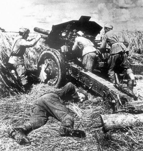 Богатырь, артиллерист и его подвиг в 1941г