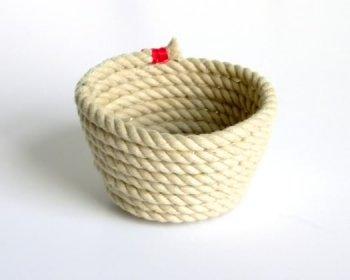 МАСТЕРИЛКА. Плетеная чаша из веревки