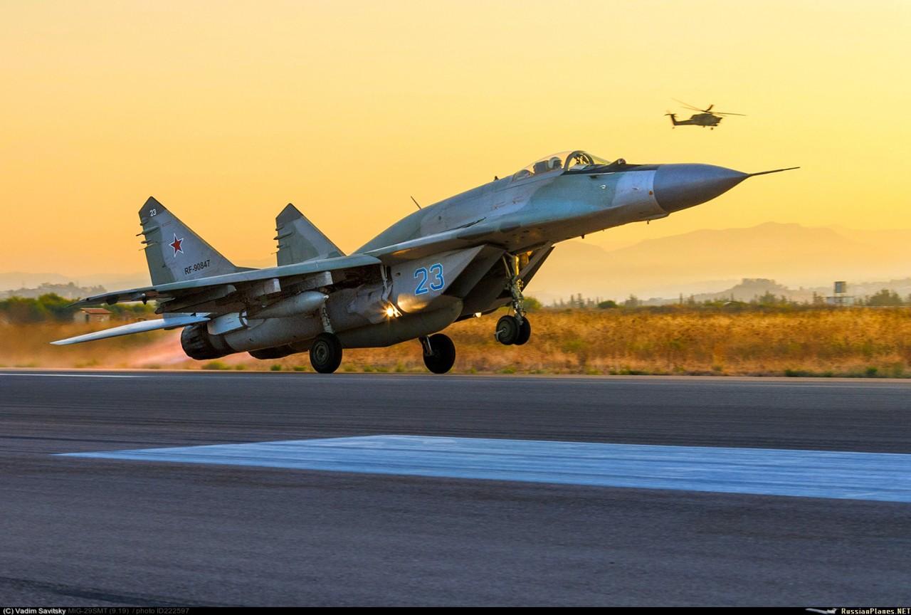 Применение истребителей МиГ-29СМТ ВКС России в Сирии