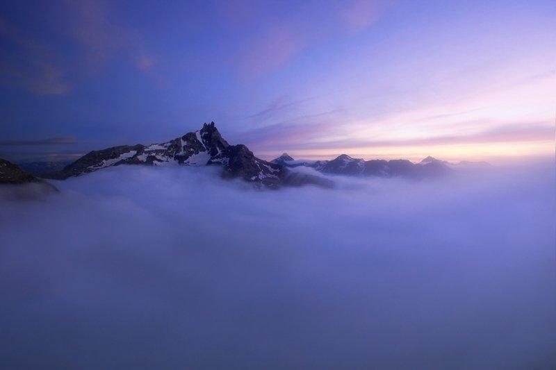 Вершины Котских Альп горы, красиво, небо, облака, природа, творчество, фото, фотограф