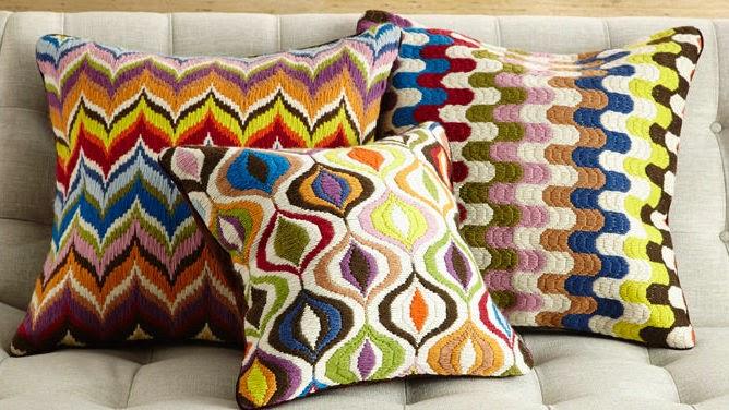 Оригинальные диванные подушки схемы
