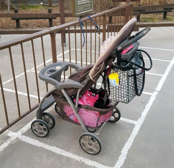 Парковочные места для колясок.