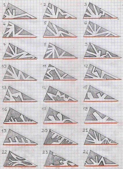 схемы снежинки из бумаги