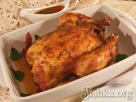 Запеченная курица в рукаве а-ля курица гриль рецепт с фото