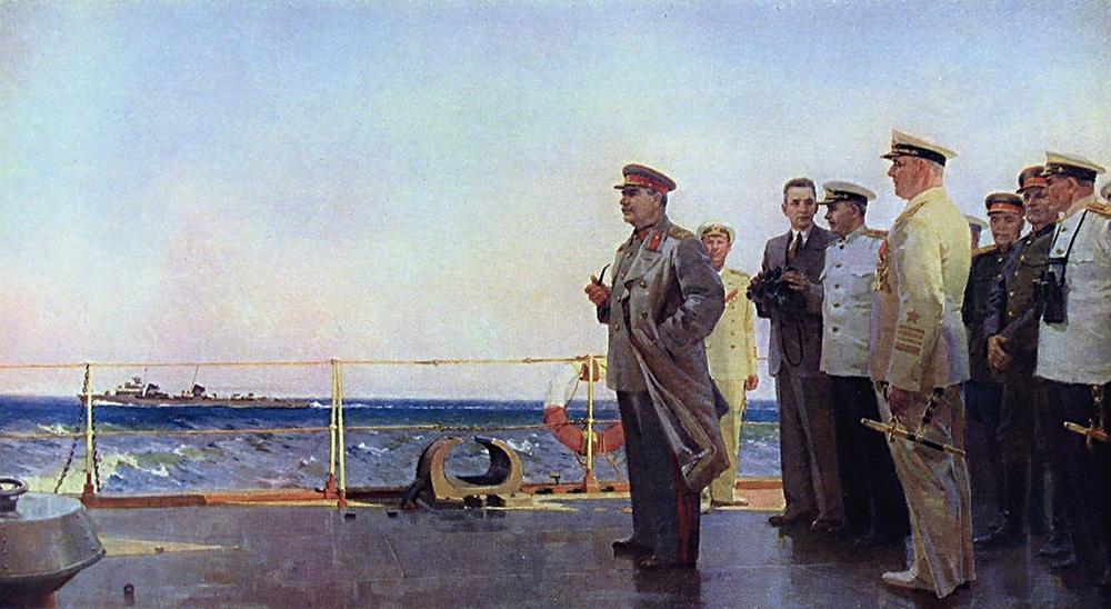 И.В. Сталин на крейсере «Молотов»