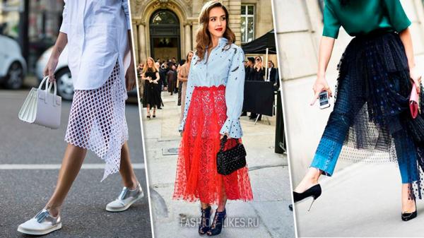 13 стильных идей, как носить юбку с платьем и быть в тренде