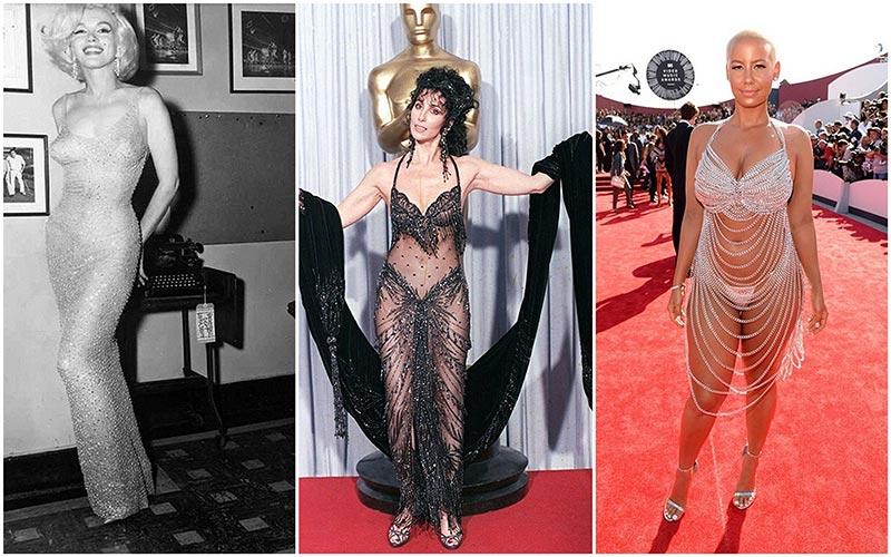Голые платья звезд самые скандальные наряды