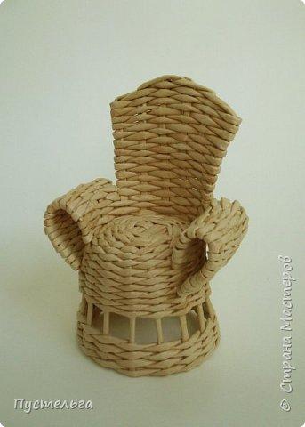 Кукольная жизнь Плетение Кресло Трубочки бумажные фото 11