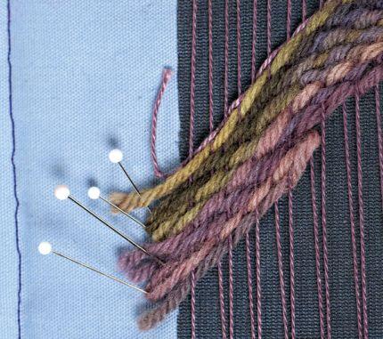 Рукодельная ткань в технике гобелен