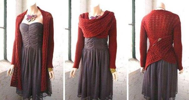 ВЯЖЕМ. Универсальный шарф с рукавами Juliana из Berroco