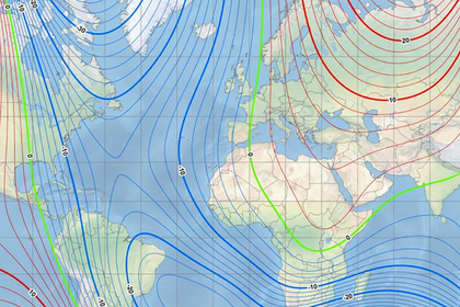 Зафиксировано смещение магнитного полюса Земли к России