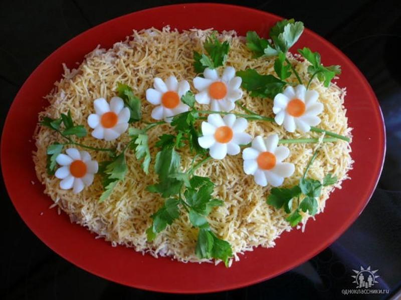 Красивая подача салатов и рецептами 11