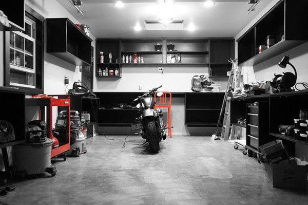 Шикарные интерьеры гаражей