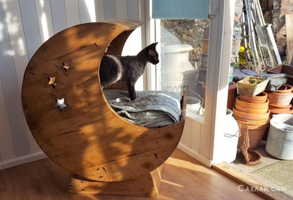 Домик для кота из деревянных паллет своими руками