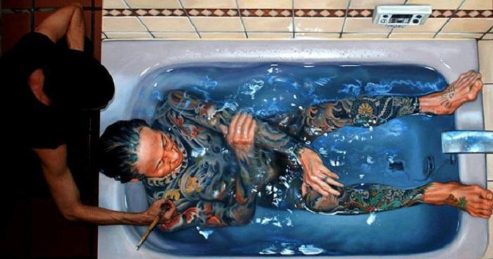 Фото купающейся девушки в ванной