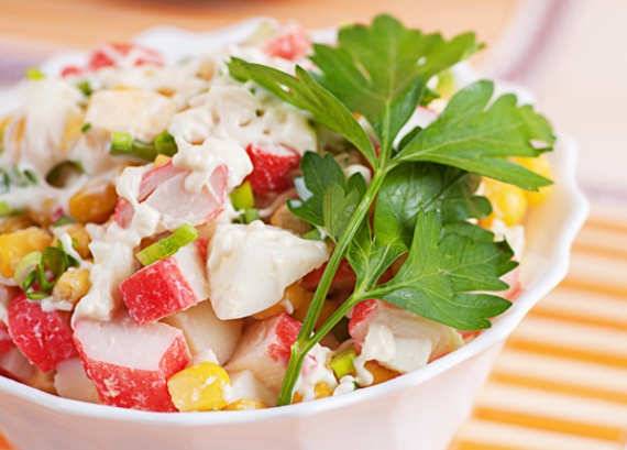 Крабовые салаты рецепты с фото