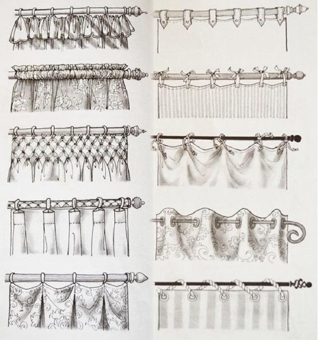 20 способов подвешивания штор