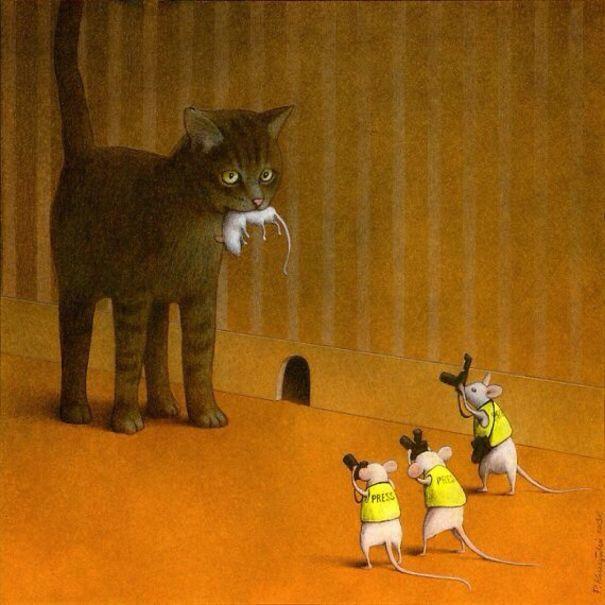 Откровенные и жесткие иллюстрации Павла Кучинского о проблемах нашего общества