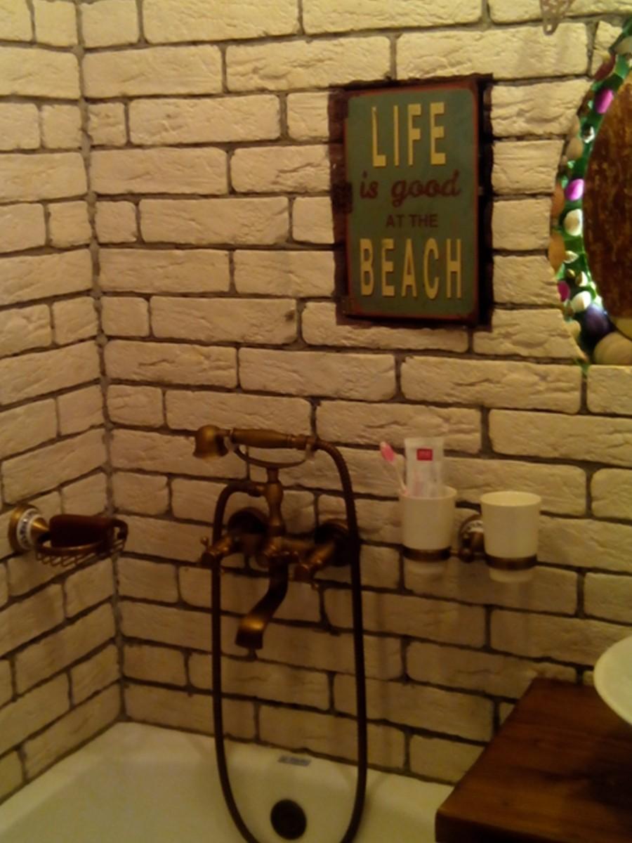Ванная комната под старину, ванная ретро