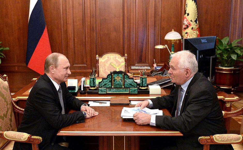 Встреча с Леонидом Рошалем  -/-  Совещание с членами Правительства