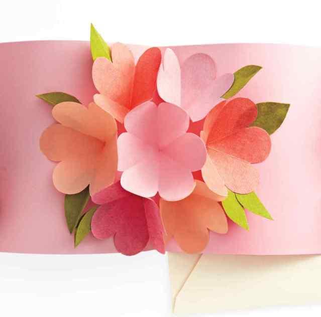 Открытка для мамы на день рождения своими руками объемная