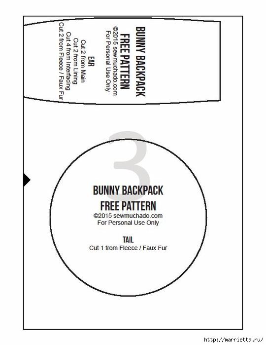Рюкзачок с ушками кролика для маленькой девочки (5) (540x700, 105Kb)