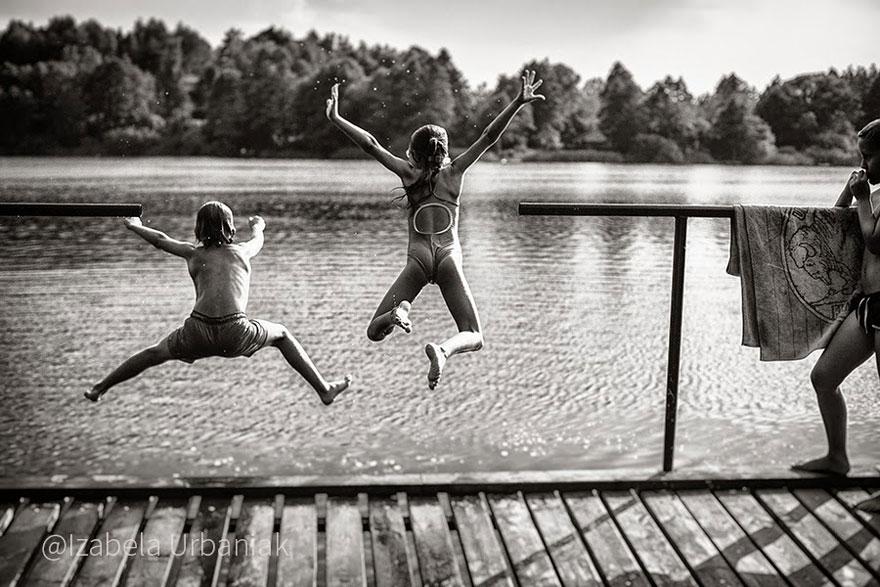 Летние каникулы в польской деревне - чёрно-белые фото-31