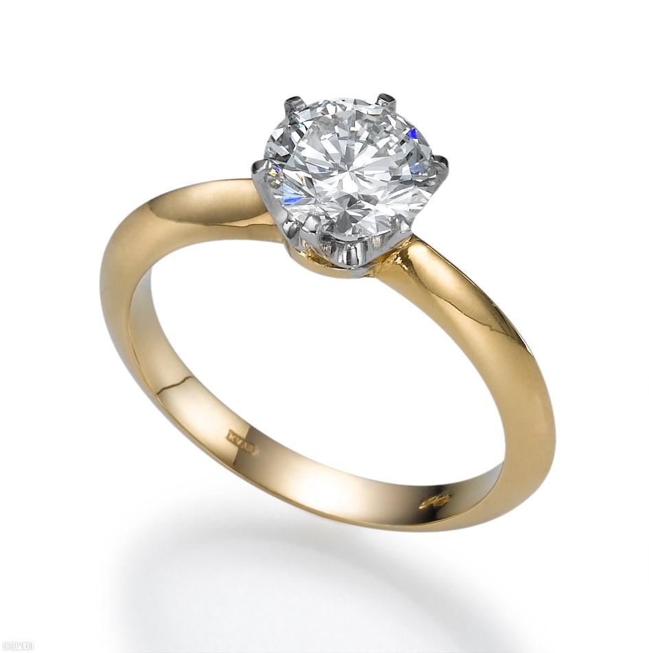 кольцо с бриллиантом цена фото
