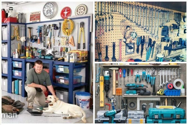 13. Все точно в тон, или тот случай когда порядок царит не только в размещении инструментов гараж, идеальный, инструменты, мастерская, перфекционизм, порядок