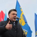Тягнибок: Мы добьем Донбасс и водрузим желто-синий флаг над руинами Кремля