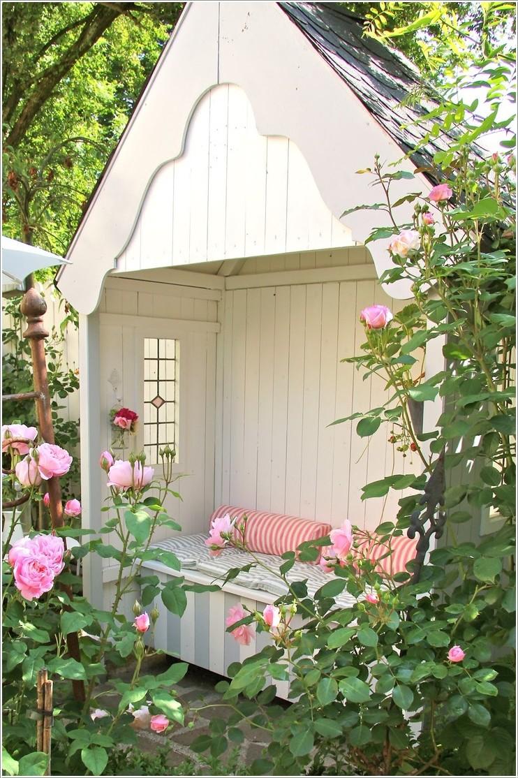 1. Уютный садовый уголок для чтения беседка, дача, домик