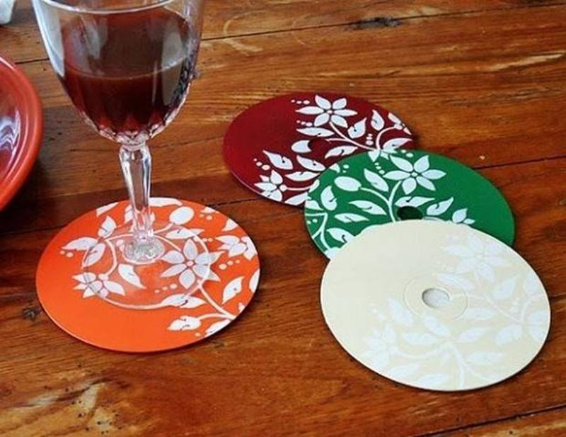 Подставка из дисков своими руками фото