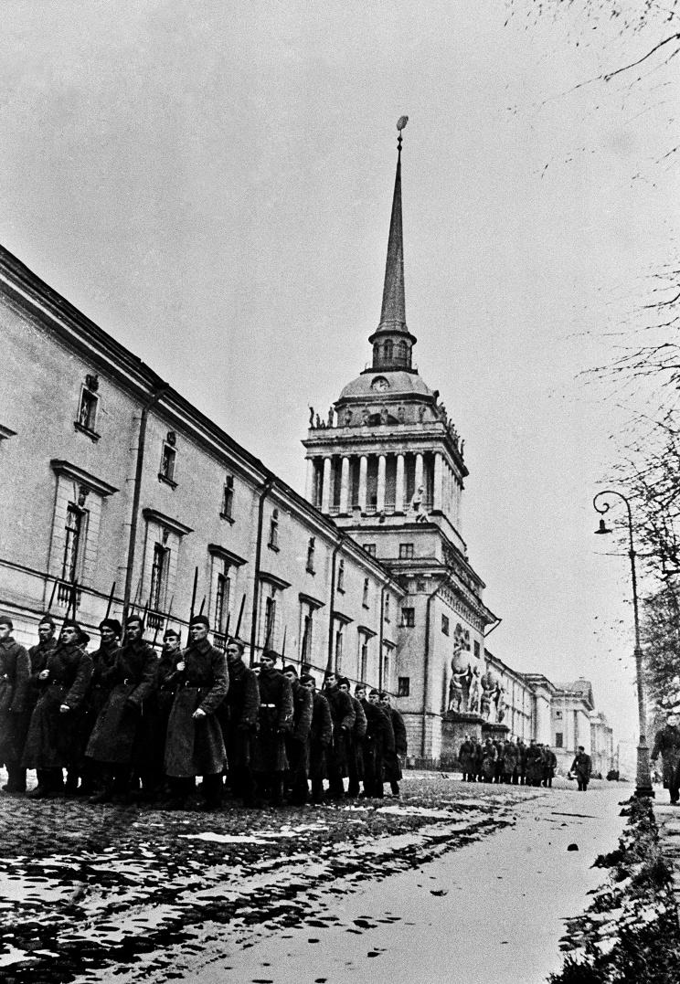 ID: 10845744 Описание: Советский Союз. Ленинград. Батальон идет на фронт, 1941 год. Фотохроника ТАСС