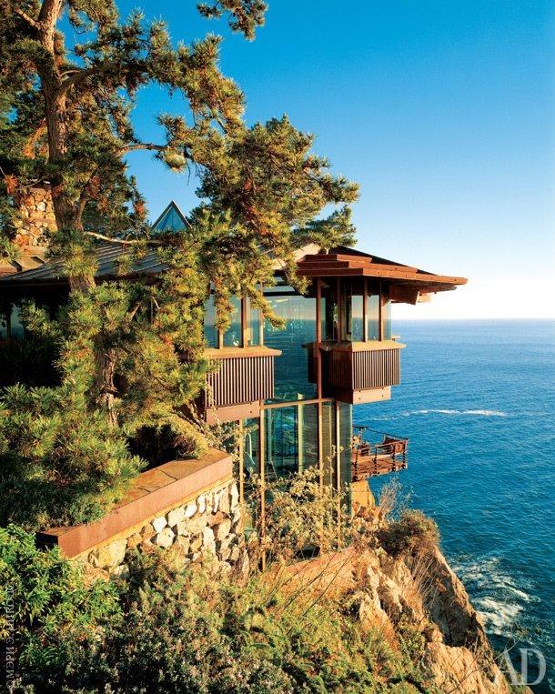 Дом на скале в Биг-Сур в Калифорнии дом, интересное, красиво, обрыв, строения