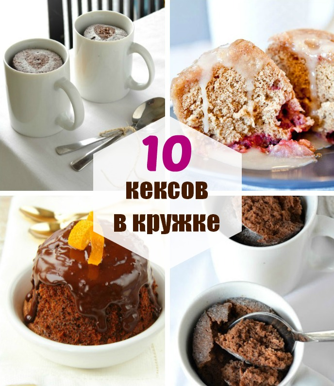 10 рецептов быстрых кексов в кружке