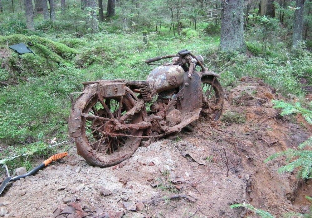Находка в лесу при помощи металлоискателя