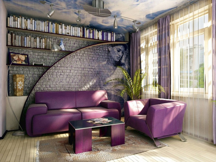 Кирпичная стена в квартире фото
