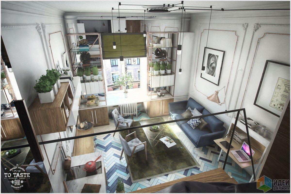 Квартира-студия, двухуровневая квартира фото