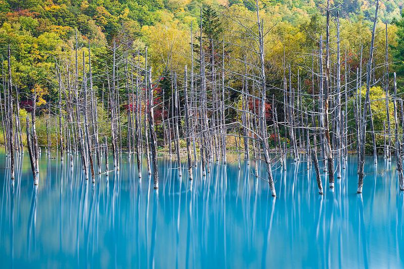 Голубая вода пруда Биэй