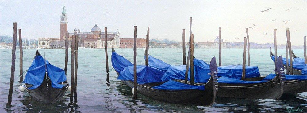 Венеция в реалистичных акварелях Тьерри Дюваля