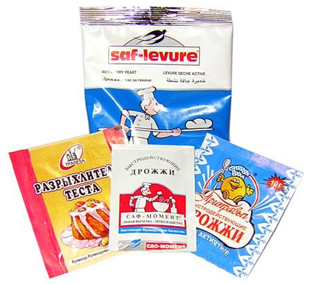 Соотношение сухих и свежих прессованных дрожжей,сода или разрыхлитель в тесте