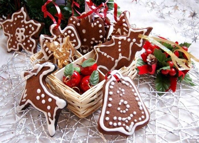 Праздничное имбирное печенье.