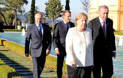 Путин провел встречу с Меркель в преддверии стамбульского саммита по Сирии